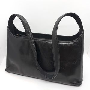 Jones New York Genuine Leather Black Handbag Med